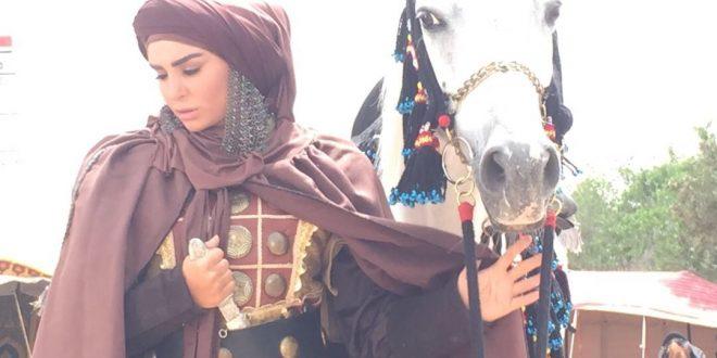 الفنانة أميرة سمير الى جانب قصي خولي في هارون الرشيد