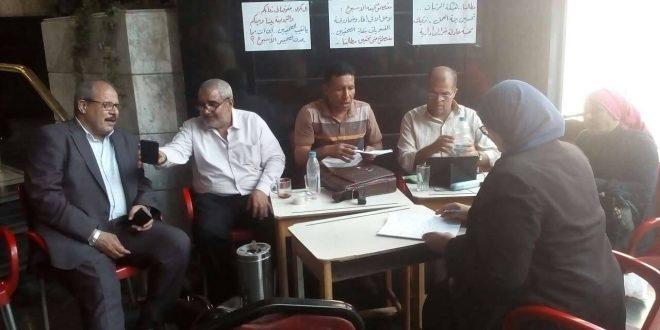 رغم تأجيل انعقاد مجلس نقابة الصحفيين وعدد من أعضائه يزورون معتصمى الأسبوع