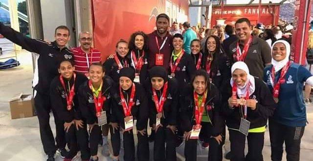 منتخب مصر لكرة القدم النسائية الموحدة للاولمبياد الخاص يهدى برونزية كأس العالم للرئيس السيسى وللشعب المصرى ويحلمن بقاءه