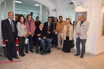 افتتاح معرض ديالوج للفنانيين ماجد باقي وجورج ماهر بمبنى العلاقات الخارجيه