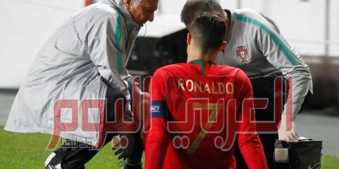 رونالدو يخرج مصابا قبل ربع نهائي أبطال أوروبا