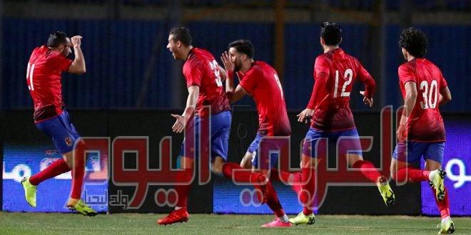 أهداف مباراة الأهلي والمصري.. (2-0)..