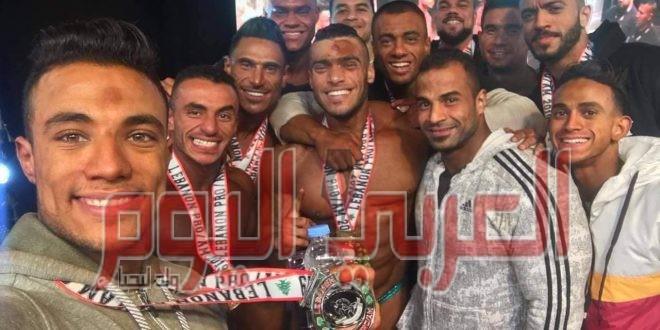 ابطال مصر تكتسح بطوله لبنان برو لكمال الاجسام والفيزيك