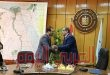 وزير القوي العاملة يكرم الملحق العمالي الجديد بالأردن