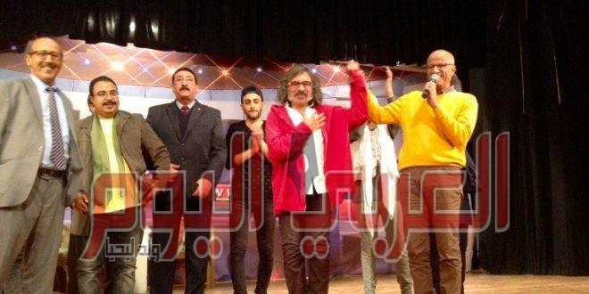 جمهور مسرح نقابة الصحفيين يُستقبل عرض استوديو المعلم بحفاوة