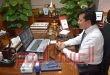 وزير الرياضة يتواصل مع اللاعبين العائدين بالخارج بالحجر الصحي عبر تقنية الفيديو كونفرانس