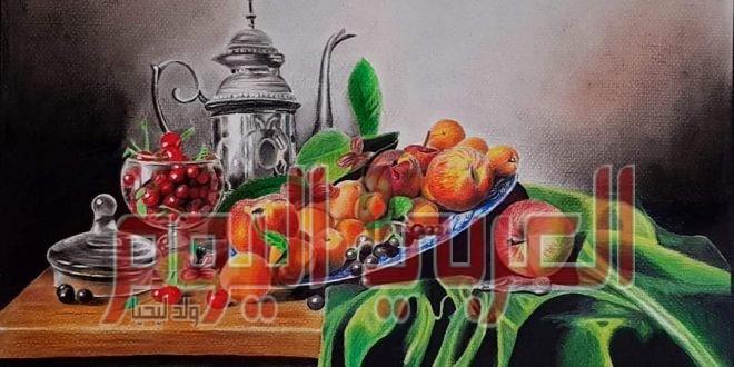 لوحة الجنة بريشة الفنان المبدع محمد رضا أبزيك