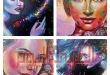 أربع لوحات بريشة الفنانة التشكيلية مريم الشملاوي / السعودية