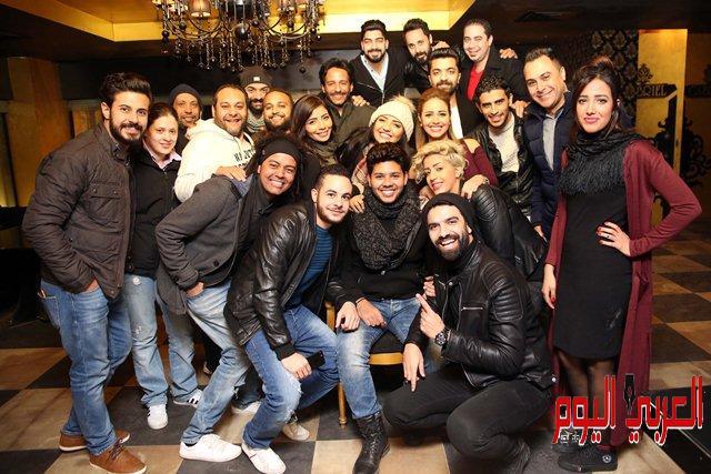 محمد شاهين يحتفل بعيد ميلاده بحضور نجوم ستار اكاديمي