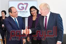 السيسي يؤكد لرئيس الوزراء البريطاني تمسك مصر بحقوقها المائية بقضية سد النهضة