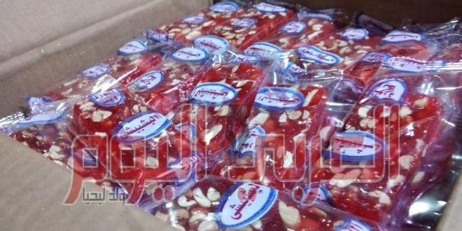تموين الاسكندريه يضبط مصنع حلوى بدون ترخيص بالورديان
