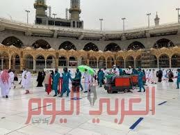 شؤون الحرمين تكثف جهودها لإزالة آثار الأمطار من أجل المحافظة على سلامة قاصدي المسجد الحرام وأدائهم مناسكهم بكل يسر