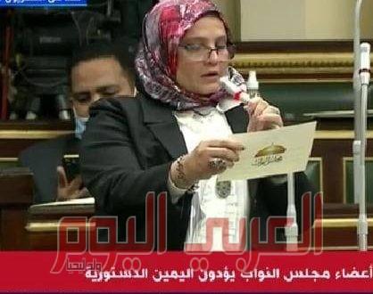 النائبة نجلاء العسيلي : تدين التدخل الإمريكى في الشأن المصرى؛ وتحيي الشرطة في عيدها.