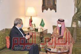وزير الخارجية السعودي يلتقي بساكح شكري  على هامش اجتماعات مجلس جامعة الدول العربية