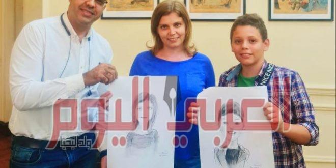 فى سهرة رمضانية ورشة رسم كاريكاتير بالروسى