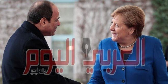 ميركل والسيسي يبحثان الوضع في ليبيا واتفاق إيران النووي وقضايا أخرى